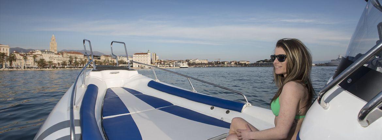Girl on boat in Split