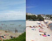 Bacvice and znjan beach at Split, Croatia