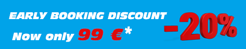Early booking discount -20%