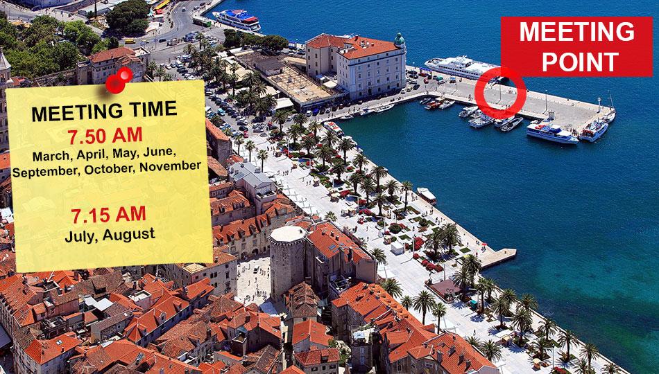 Meeting point at Split, Croatia