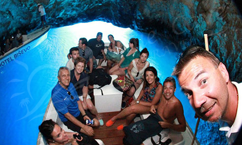 blue cave boat