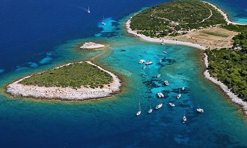 Blue Lagoon of Budikovac Island, Croatia