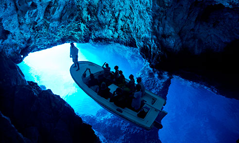Boat in Blue cave