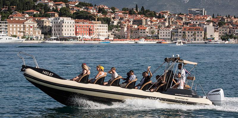 Speedboat at Split harbour