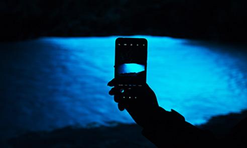 blue cave smartphone