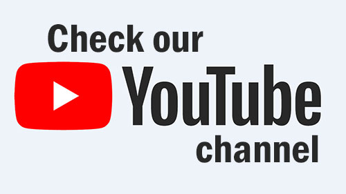 check our youtube channel