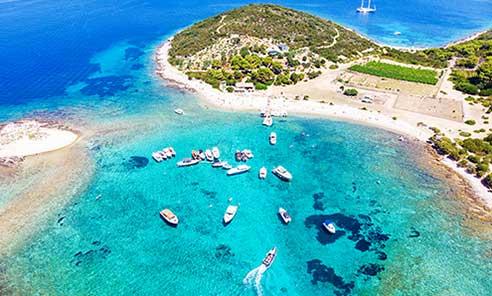 blue lagoon from air